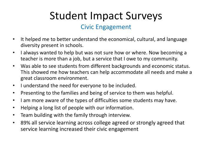 Student Impact Surveys