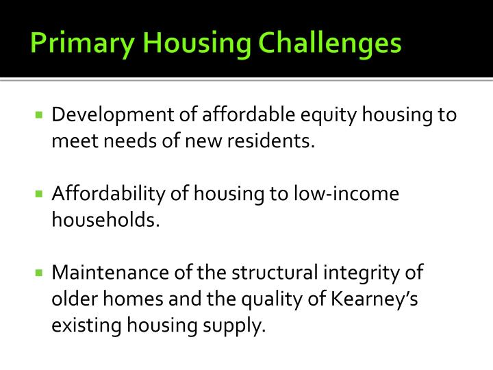 Primary Housing Challenges