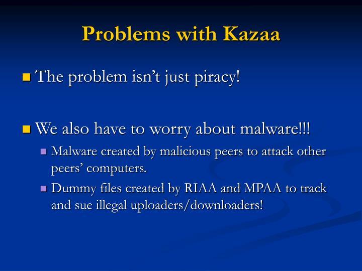 Problems with Kazaa