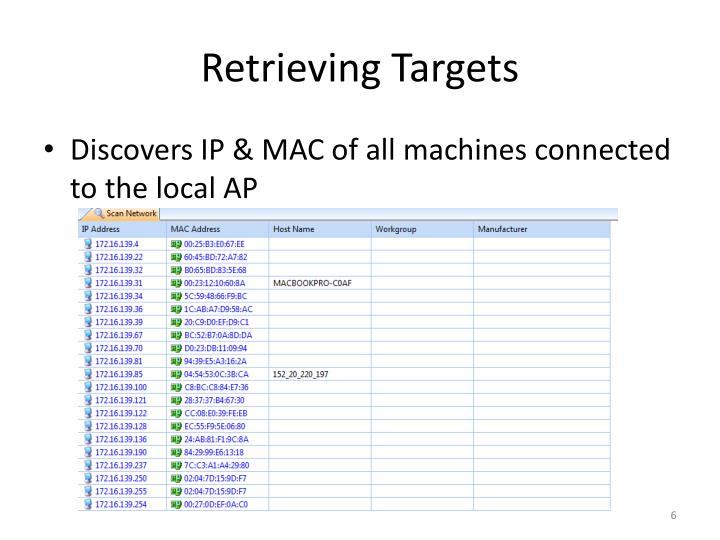 Retrieving Targets