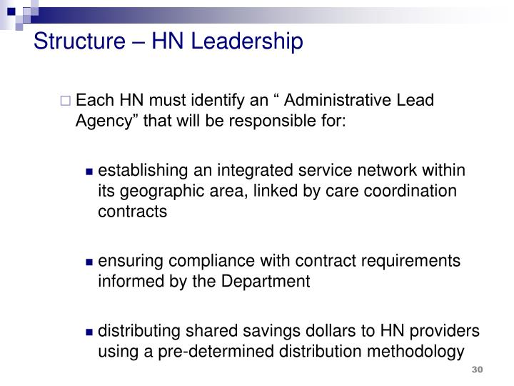 Structure – HN Leadership