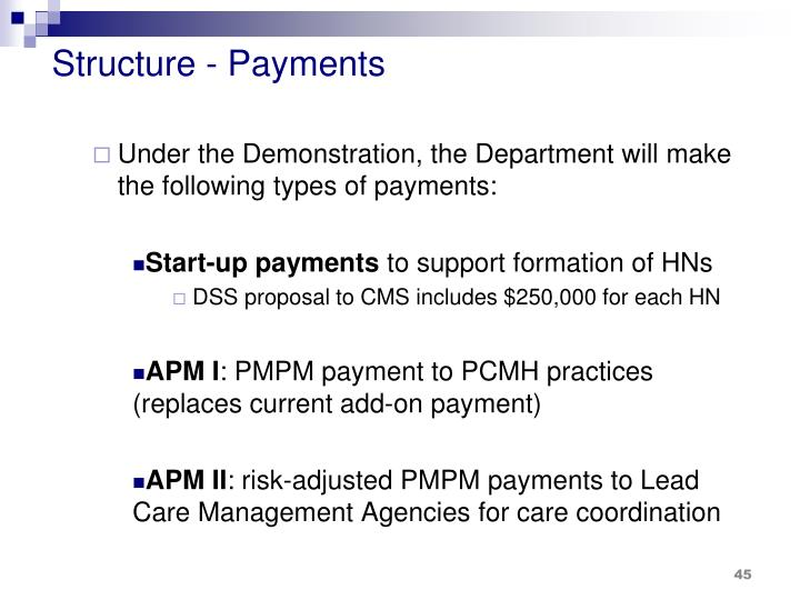 Structure - Payments