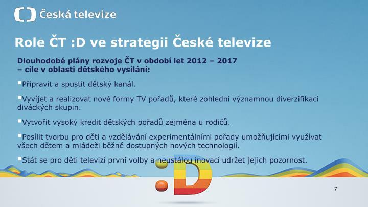 Role ČT :D ve strategii České televize
