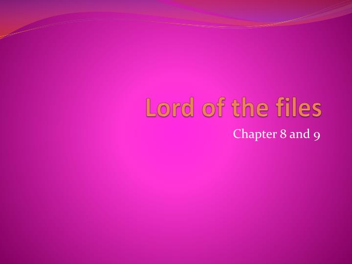 lord of the files n.