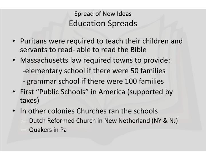 Spread of new ideas education spreads
