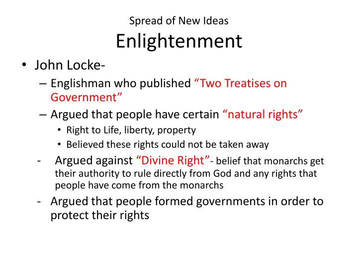 Spread of New Ideas