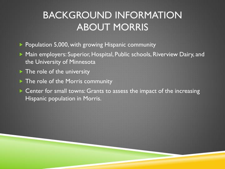 Background information about morris