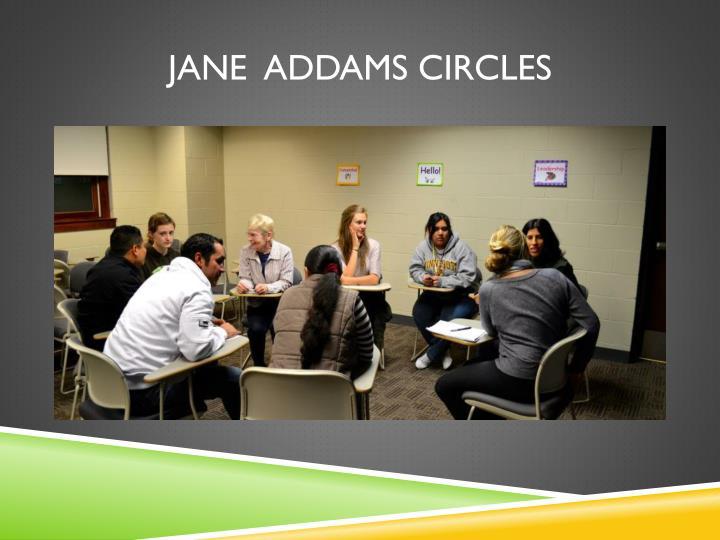 Jane  Addams circles