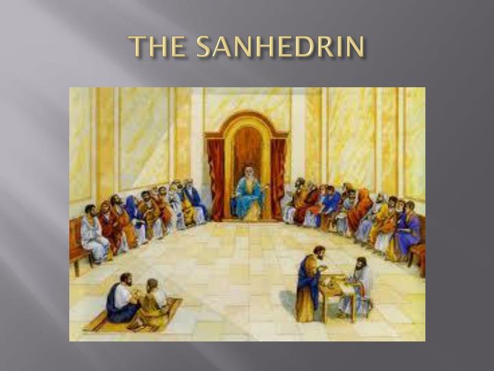 THE SANHEDRIN