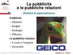 la pubblicit e le pubbliche relazioni