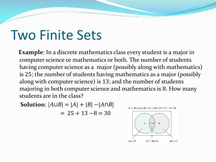 Two Finite Sets
