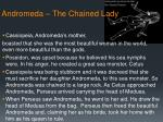 andromeda the chained lady