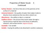 properties of water vocab 3 continued