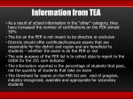 information from tea