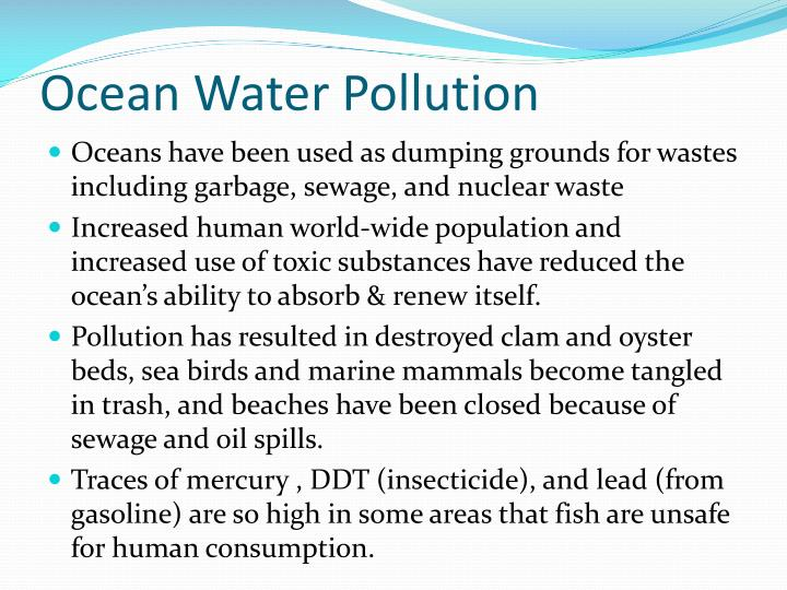 Ocean Water Pollution