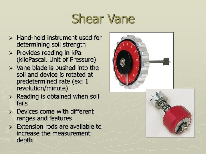 Shear Vane