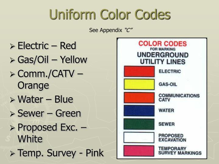 Uniform Color Codes