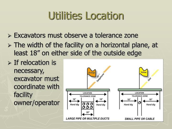Excavators must observe a tolerance zone