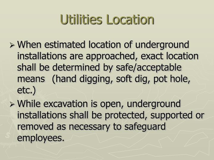 Utilities Location