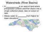 watersheds river basins