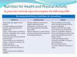 nutrition for health and physical activity1
