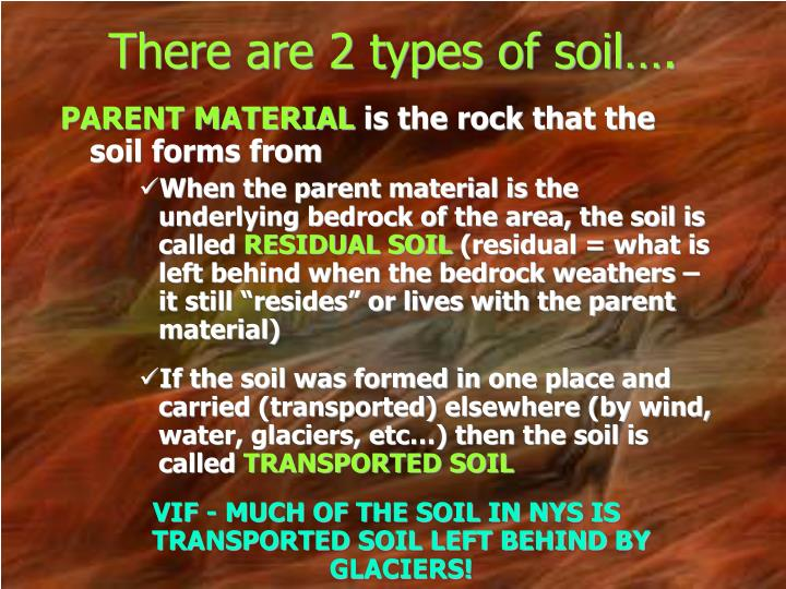 There are 2 types of soil….