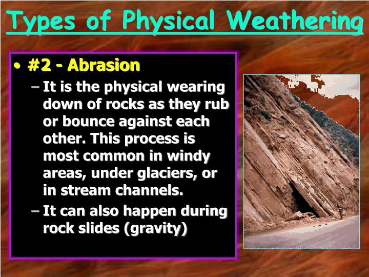 Types of Physical Weathering