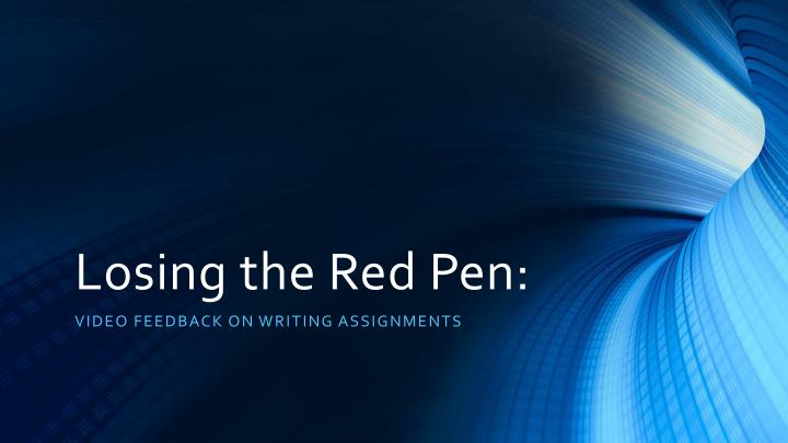 Losing the red pen