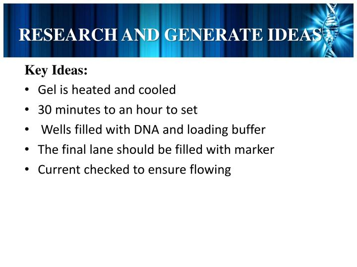 RESEARCH AND GENERATE IDEAS