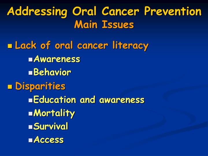 Lack of oral cancer literacy
