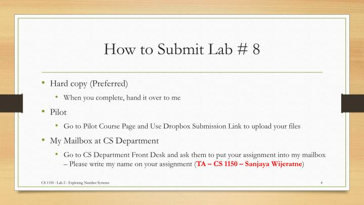 How to Submit Lab #