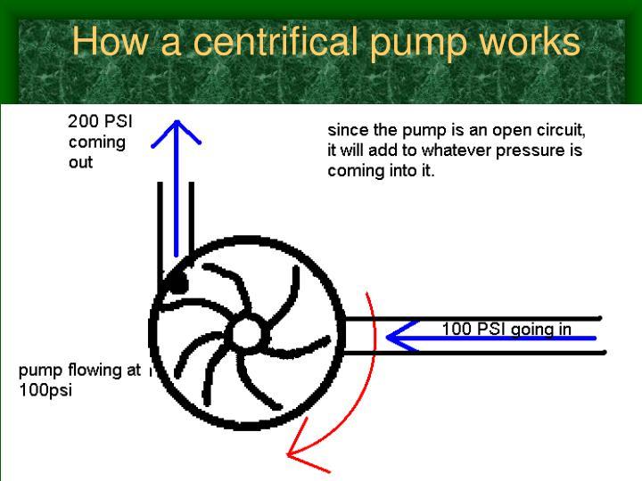 How a centrifical pump works