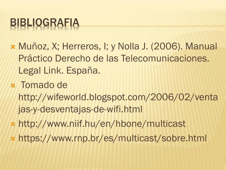 Muñoz, X; Herreros, I; y