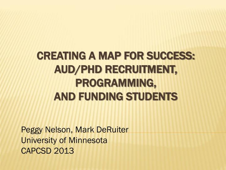 creating a map for success aud phd recruitment programming and funding students n.