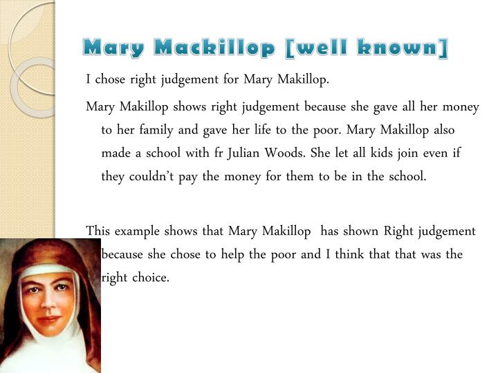 Mary mackillop well known