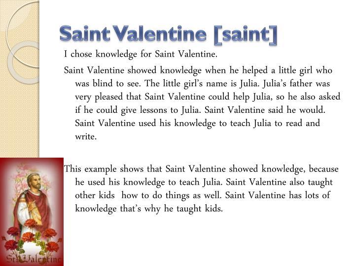 Saint valentine saint