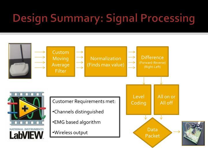 Design Summary: Signal Processing
