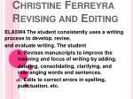 christine ferreyra revising and editing