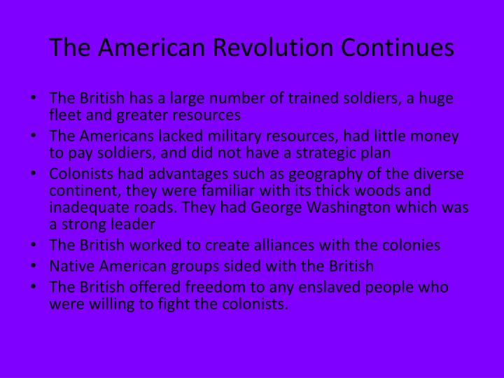 The American Revolution Continues