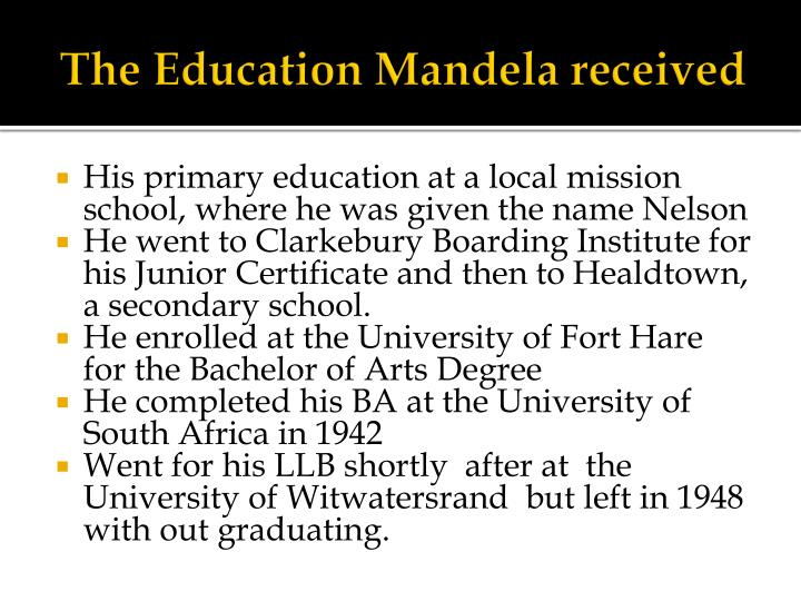 The Education Mandela received