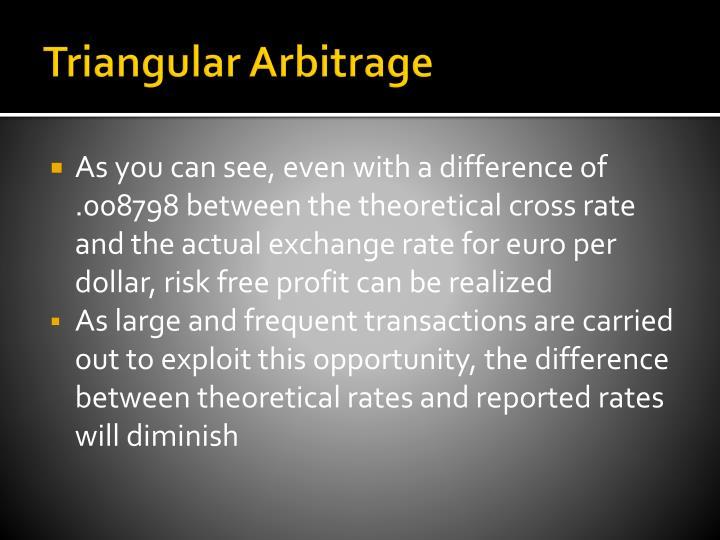 Triangular Arbitrage