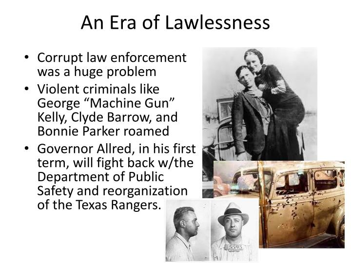 An Era of Lawlessness