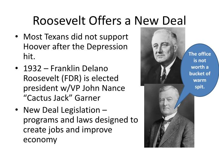 Roosevelt Offers a New Deal