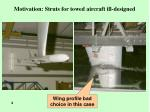 motivation struts for towed aircraft ill designed