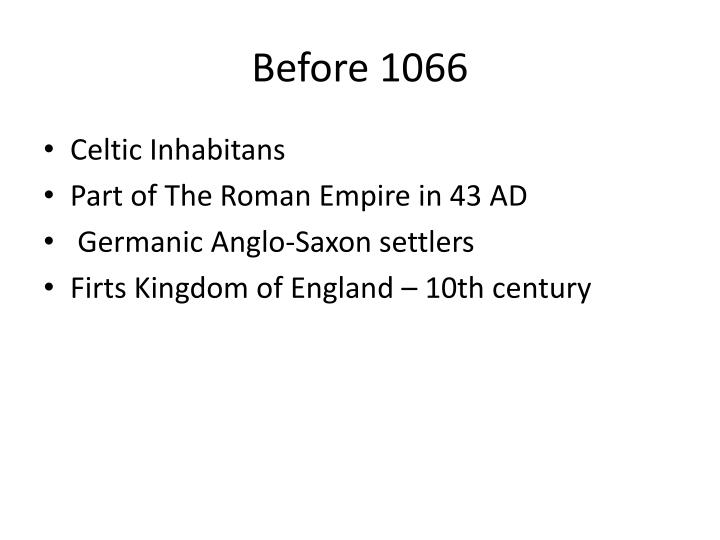 Before 1066