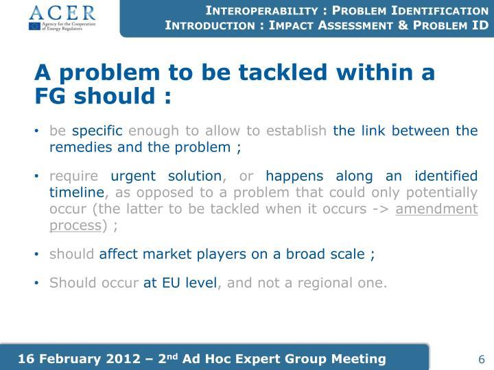 Interoperability : Problem Identification