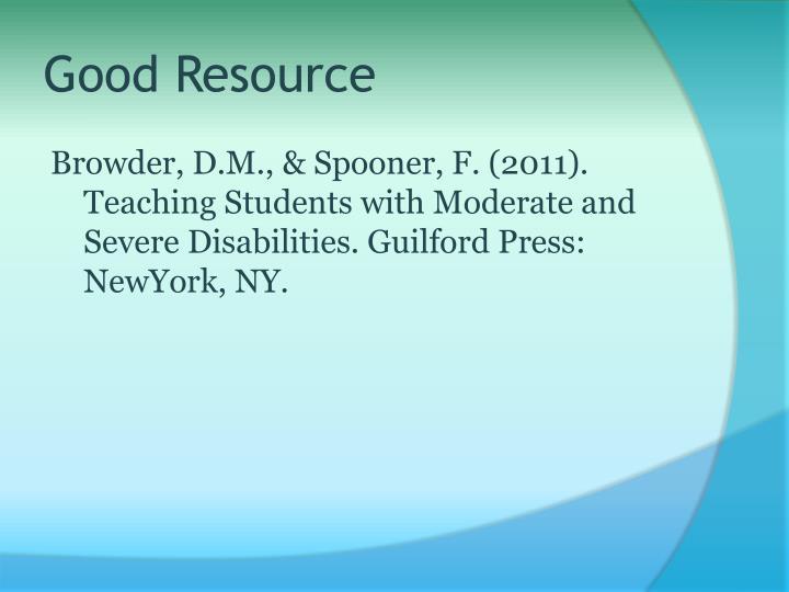 Good Resource
