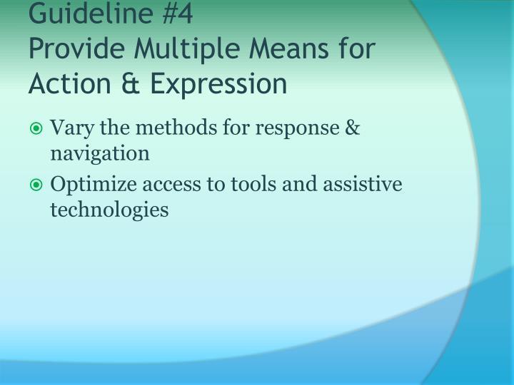 Guideline #4