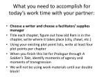 what you need to accomplish for today s work time with your partner