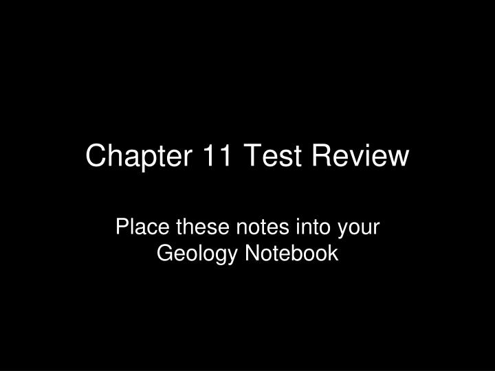 chapter 11 test review n.